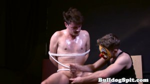Held Undergarments Twink Will Get Oily Hand Job