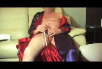 T-girl Crossdresser Urethral Sounding Undergarments Nylon Fake Penis