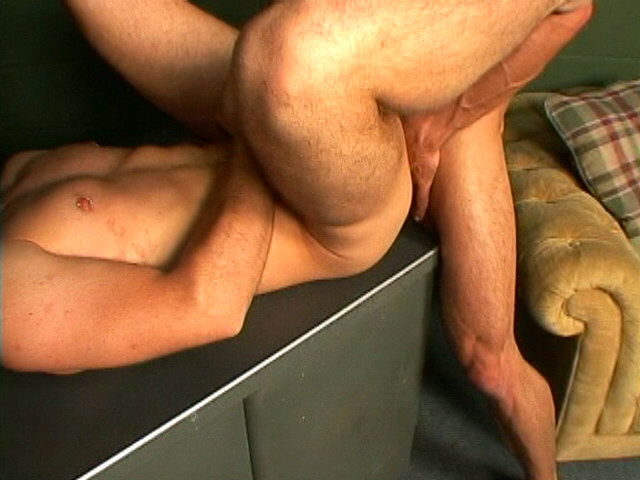 Spunky Fag Luke Throating A Phat Fuck-stick On His Knees In A 3some